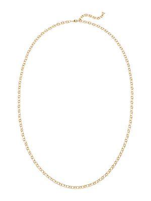 "18K Yellow Gold Ribbon Chain/32"""