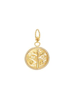 TEMPLE ST. CLAIR Tree of Life Diamond & 18K Yellow Gold Small Pendant