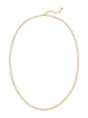 TEMPLE ST. CLAIR 18K Yellow Gold Round Link Necklace Chain/32""