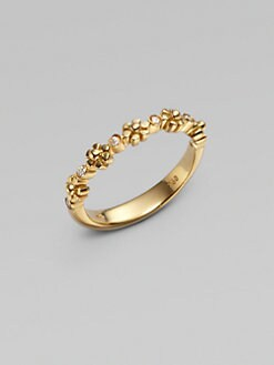 Temple St. Clair - 18K Gold Diamond Accented Small Fiori Ring