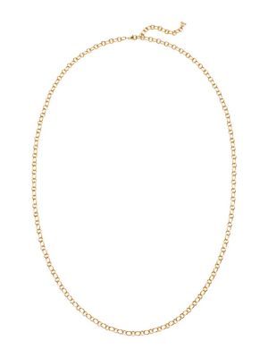 18K Yellow Gold Ribbon Necklace Chain/18