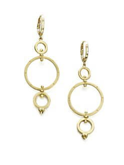 Temple St. Clair - 18K Gold & Diamond Triple Spin Drop Earrings