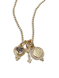 Temple St. Clair - Diamond and 18K Yellow Gold Amor Necklace