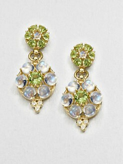 Temple St. Clair - Semi-Precious Multi-Stone & 18K Gold Drop Earrings