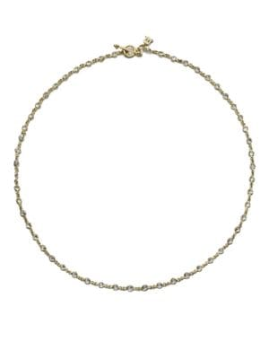 TEMPLE ST. CLAIR Classic White Sapphire & 18K Yellow Gold Station Necklace