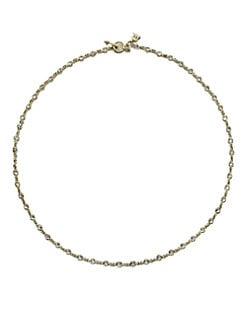 Temple St. Clair - White Sapphire & 18K Gold Station Necklace