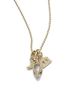 Temple St. Clair - Diamond & 18K Gold Set Pendant Necklace