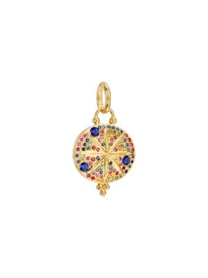 Celestial Multicolor Sapphire & 18K Yellow Gold Sorcerer Pendant