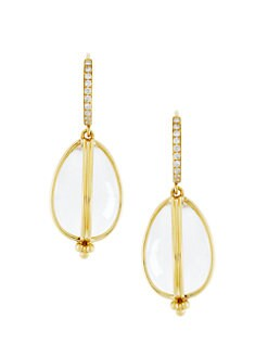 Temple St. Clair - 18K Gold & Rock Crystal Amulet Drop Earrings