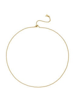 Temple St. Clair - 18K Gold Ball Chain Necklace