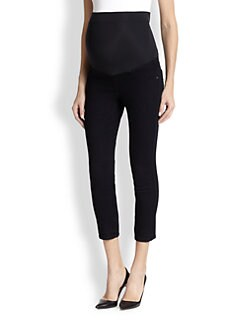 James Jeans Maternity - Twiggy Stretch Jersey-Paneled Cropped Skinny Maternity Jeans