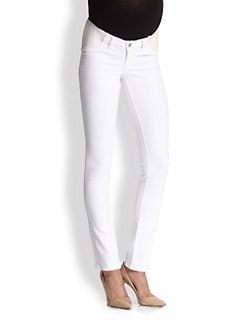 J Brand Maternity - Maternity Rail-Straight Jeans/Blanc