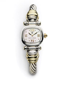 David Yurman - Two-Tone Cable Watch