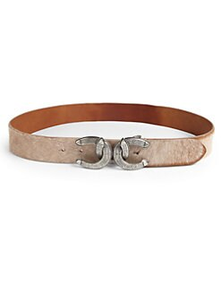 Ralph Lauren Blue Label - Horseshoe-Buckle Calf Hair Belt