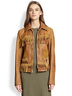 Polo Ralph Lauren - Fringed Leather Jacket