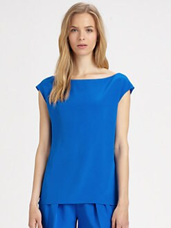 Ralph Lauren Blue Label - Silk Cap-Sleeve Top