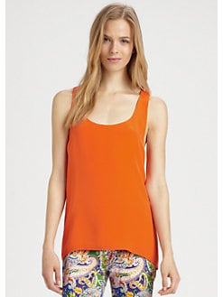 Ralph Lauren Blue Label - Silk Racerback Tank Top