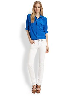 Ralph Lauren Blue Label - Silk Safari Blouse