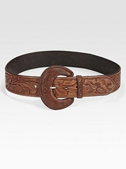 Ralph Lauren Blue Label - Whipstitch Leather Belt