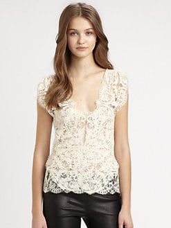 Ralph Lauren Blue Label - Vintage-Lace Elisa Top