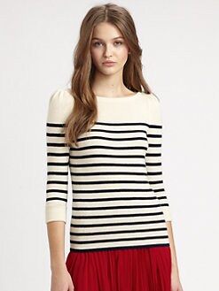 Ralph Lauren Blue Label - Cashmere Striped Sweater