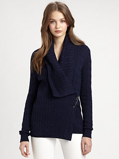 Ralph Lauren Blue Label - Pima Cotton Cable-Knit Cardigan