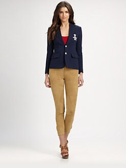Ralph Lauren Blue Label - Crested Cotton Blazer