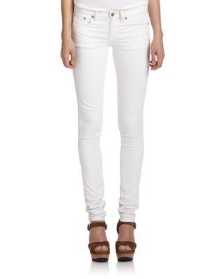 White Skinny Jeans 0486340498743
