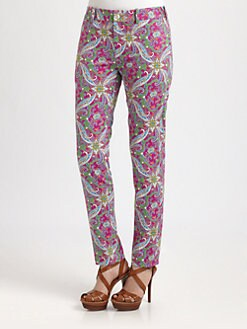 Ralph Lauren Blue Label - Ariana Paisley Slim Pants