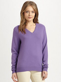 Ralph Lauren Blue Label - V-Neck Cashmere Sweater