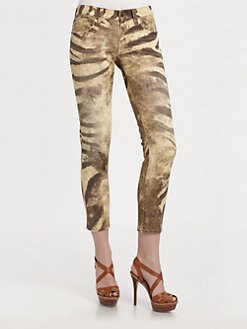 Ralph Lauren Blue Label - Zebra-Print Skinny Jeans