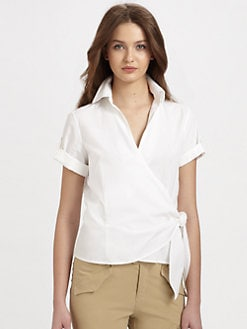 Ralph Lauren Blue Label - Cotton Shani Wrap Shirt