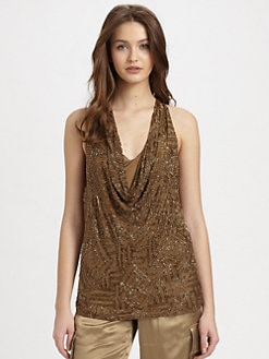 Ralph Lauren Blue Label - Silk Beaded Chanya Tank Top