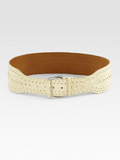 Ralph Lauren Blue Label - Perforated Leather Belt