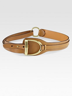 Ralph Lauren Blue Label - Vachetta Leather Luggage-Flap Belt