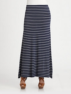 Ralph Lauren Blue Label - Striped Jersey Maxi Skirt