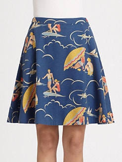 Ralph Lauren Blue Label - Mikaela Retro Print Skirt