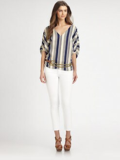 Ralph Lauren Blue Label - Estelle Striped Linen Top