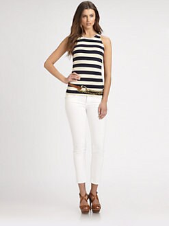 Ralph Lauren Blue Label - Linen-Blend Striped Tank