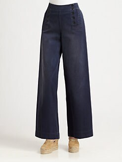 Ralph Lauren Blue Label - High-Waist Sailor Pants