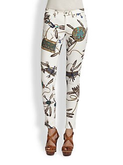 Ralph Lauren Blue Label - Printed Skinny Jeans