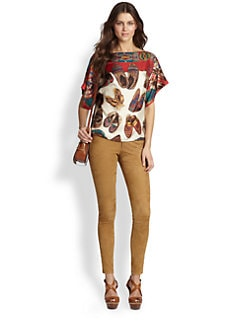 Ralph Lauren Blue Label - Silk Pepper Blouse