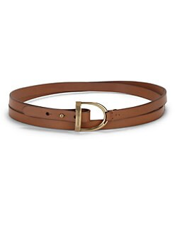 Ralph Lauren Blue Label - Stirrup-Buckle Leather Belt