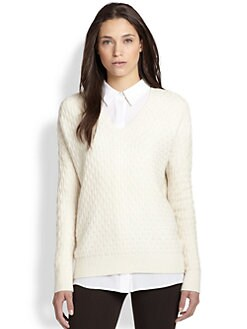 Vince - Wool & Cashmere Textured-Knit Sweater