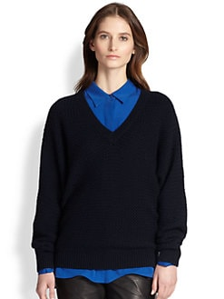Vince - Wool & Cashmere Dolman-Sleeved Textured Sweater