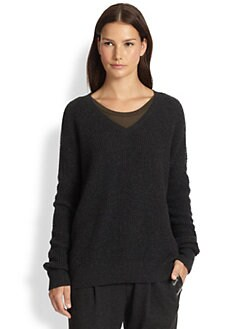 Vince - Double V Thermal Wool & Cashmere Sweater