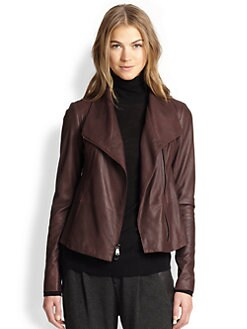 Vince - Leather Scuba Jacket