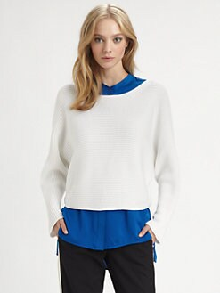 Vince - Horizontal Rib Dolman Sweater