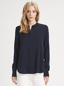 Vince - Zip-Placket Top