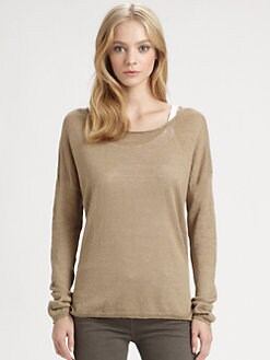 Vince - Linen Hi-Lo Sweater